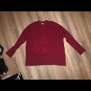 Oversize Red Sweater